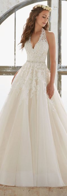 Featured Wedding Dress: Mori Lee; Wedding dress idea.