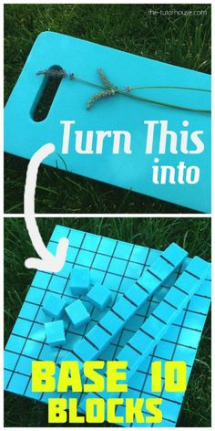 DIY Base 10 Blocks - super simple and great way to make base 10 blocks more engaging for students!