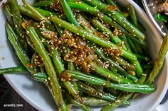 These chinese green beans are amazing and so easy!