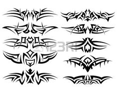 Patterns of tribal tattoo for design use