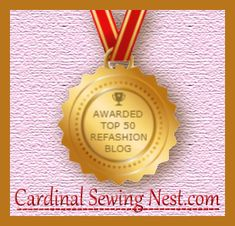 Awarded top 50 refashion blog  I ranked 20 th!  Click on the image to view all talented winners