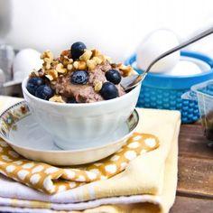 Blueberry Walnut Oat-less Oatmeal HealthyAperture.com
