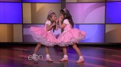 "Sophia Grace and Rosie on Ellen DeGeneres perform Taylor Swift ""I knew you were trouble"""