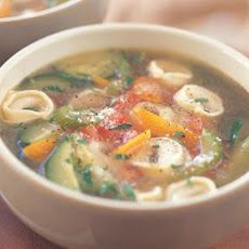 Tortellini & Vegetable Soup Recipe uses zuchhini