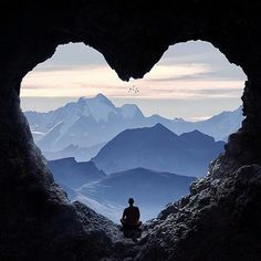 a heart shaped cave