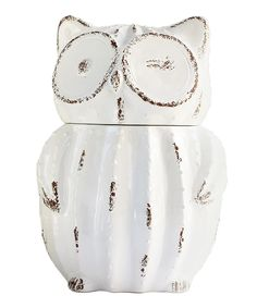 Look what I found on #zulily! White Owl Jar by Jay Import #zulilyfinds