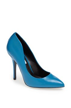 Blue pumps for a 4th of July dinner date.