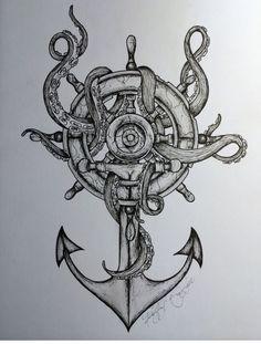 Awesome anchor tattoo (for daddy) tattoo пиратская татуировка, морское тату, Tattoo Sketches, Tattoo Drawings, Body Art Tattoos, Maori Tattoos, Zodiac Tattoos, Flame Tattoos, Tattoo Ink, Tatoos, Helm Tattoo