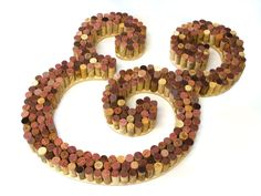 Wine Cork Letter | Use recycled wine corks to create this gorgeous cork letter | CraftCuts.com