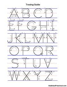 alphabet writing template