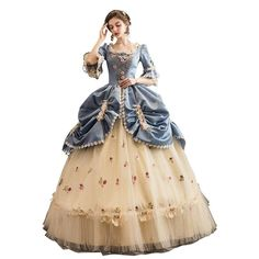 Baroque Style Costume Gown