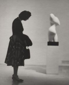 Otto Litzel, Girl With Statue, ca. 1960