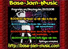 Am Dienstag krachen wir weiter langsam und schneller mit Beat Bass und Sound auf http://base-jam-music.com