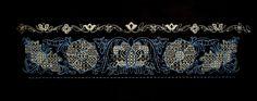 """TANUKIRI"" Stickdesign mit 27825 Stichen, ca. 30,1 cm x 7,1 cm"