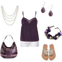 Purple - summer, created by jklmnodavis on Polyvore