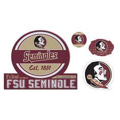 Florida State Seminoles Game Day 4-Piece Magnet Set, Multicolor