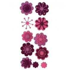 Complementos de fieltro flores 13070003