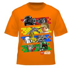 Lego Star Wars Boys T Shirt, Boys | Walmart Canada Online Shopping. Unfortunately this is from walmart, but I'm sure you can find the licensed lego shirts elsewhere too.