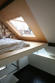loft bed and skylight - fantastic