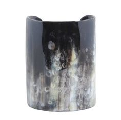 Big chunky buffalo c cuff bracelet, jewelry black natural color dark shade, organic handmade gift eco friendly skin friendly