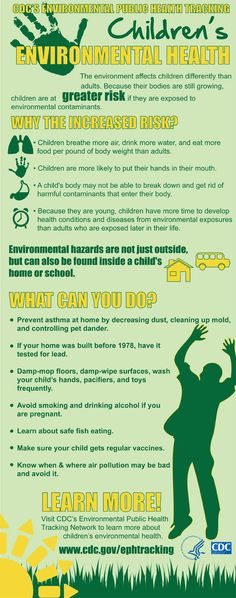 An Infographic on Childhood Environmental Health.