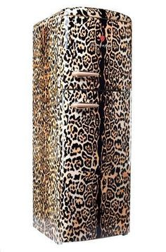 if you are a hardcore animal print fan, this Rosenlew leopard fridge is a star! Animal Print Furniture, Animal Print Decor, Animal Print Fashion, Animal Prints, Cheetah Animal, My Animal, Cheetah Print, Leopard Prints, My Favorite Color