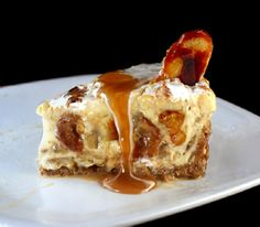 Caramelized Banana Pudding Cheesecake with Salted Cashew Praline – Vanilla Wafer Crust