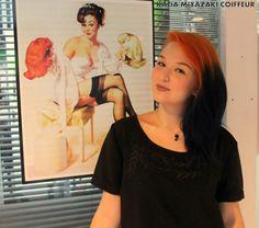 Katia Miyazaki Coiffeur - Salão de Beleza em Floripa: Cabelo Colorido - style - hair -  laranja e azul -...