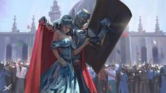 Knight saving the queen