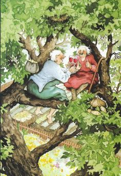Inge Look's images are just delightful. I hope I'm still climbing trees when I'm that age!