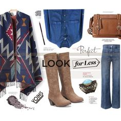 The look for less: Denim- Yoins by katarina-blagojevic on Polyvore featuring polyvore, fashion, style, H&M, Relic, Anja, INDIE HAIR, MustHave, fall2015 and yoins
