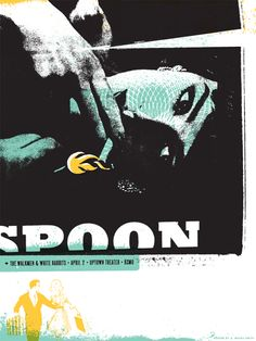 Spoon poster concert $9.84 #spoon