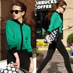 10.34$  Know more - http://aim3a.worlditems.win/all/product.php?id=G0377GR-M - Fashion OL Women Chiffon Shirt Pleated Front Long Sleeve Button Blouse Tops Green