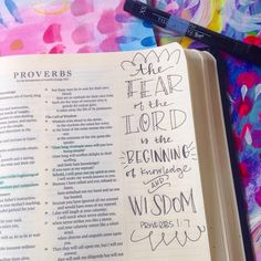 Proverbs 1:7 - the fear of the Lord is the beginning of knowledge and wisdom [credit to Valerie Wieners, http://valeriewienersart.com/]