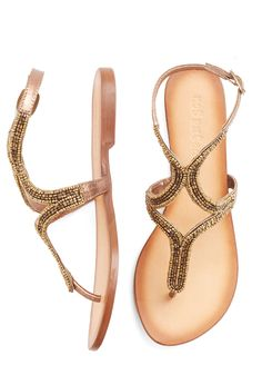 Twinkling Toes Sandal in Bronze, #ModCloth