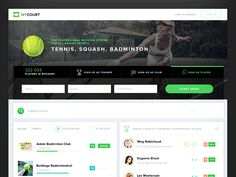 Tenis Booking app by Gleb Kuznetsov✈