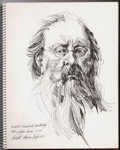 Konstantin Eduaridovich Tsiolkovsky - Artist, Paul Calle, Dated 1974