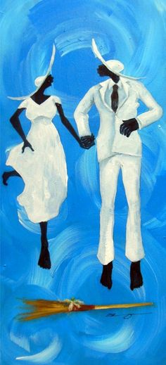 jumping the broom Shanequa Gay Art. Follow us @SIGNATUREBRIDE on Twitter and on FACEBOOK @ SIGNATURE BRIDE MAGAZINE