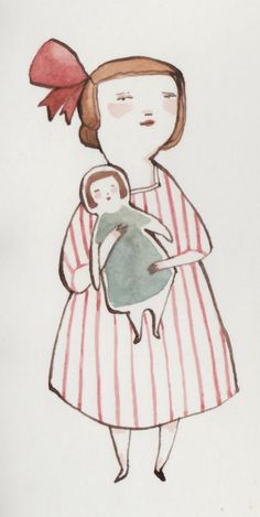 Nice. Simple illustration of mother and child. Kelsey Garrity-Riley Illustration