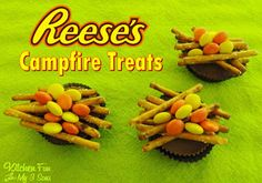 Kitchen Fun With My 3 Sons: Reese's Campfire Treats including our Stone Mountain Camping Adventure and other Fun Camping Food!