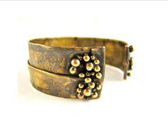 Continental Divide Adjustable Bracelet Brass by UnionStudioMetals, $65.00