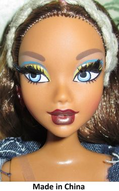 2005 My Scene Barbie Doll bend & snap legs Head Mold: No date; My Scene mold; rooted eyelashes