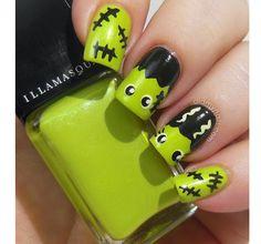 halloween nail art | Nell'iconografia classica di Halloween non può mancare il mostro di ...