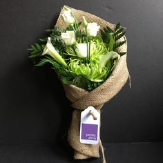 Today's Posy: Calla Lily, Lisianthus, Spider Chrysanthemum with Leather and Lemon Leaf Foliage. Only $25 delivered today anywhere in Manhattan!* #flowers #florist #Manhattan #newyork #lisianthus #spidermum #lemonleaf #callalily #leatherleaf #foliage #delivered #sameday #only25dollars #lissies #spidermum