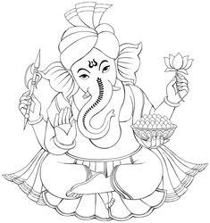 Ganesha Drawing, Lord Ganesha Paintings, Ganesha Art, Spiritual Drawings, Lord Hanuman Wallpapers, Hand Embroidery Design Patterns, Drawing Sheet, Mandala Coloring Pages, Sketch Painting