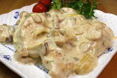 ■鶏肉レシピ■ 水郷どり:胸肉とキノコのクリームソース煮
