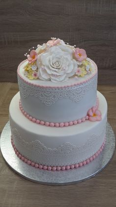 Svadobna torta - Food Angelika Škulaviková - Morský Koník Wedding Cakes, Desserts, Food, Flower, Wedding Gown Cakes, Tailgate Desserts, Deserts, Essen, Cake Wedding