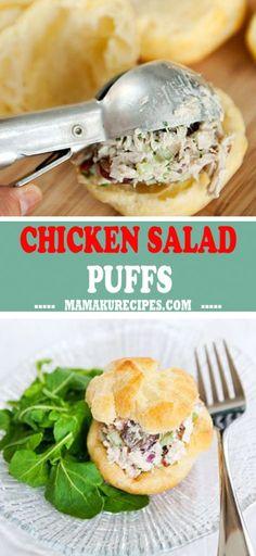 Recipe Fo, Recipe Ideas, Easy Recipes, Easy Meals, Healthy Recipes, Chicken Salad Croissant, Cooking Ideas, Cooking Recipes, Chicken Puffs