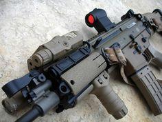 SCAR 16 Assault Weapon, Assault Rifle, Cool Guns, Big Guns, Fn Scar, Firearms, Shotguns, Home Protection, Fire Powers