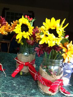 Western party center pieces